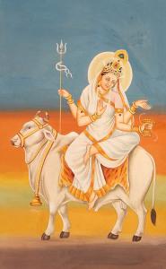 Ma Mahagauri; Künstler/Artist: unbekannt/unknown; Quelle: Dharma Vidya