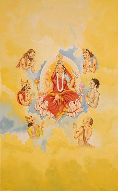 Ma Siddhidatri; Künstler/Artist: unbekannt/unknown; Quelle: Dharma Vidya
